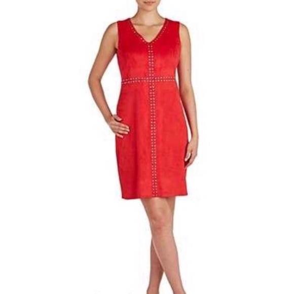 Peter Nygard Dresses & Skirts - Peter Nygard Red Stud Embellished Dress